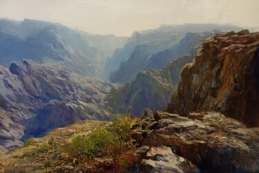 """Painting titled """"On The Mountains"""" by Faramarz Mokhtarpour, Original Art, Oil"""