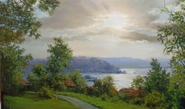 """Painting titled """"A Beautiful Morning"""" by Faramarz Mokhtarpour, Original Art, Oil"""