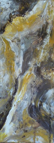 """Painting titled """"Gold marble - Marbr…"""" by Florence Oulhiou, Original Art, Acrylic Mounted on Stretcher frame"""