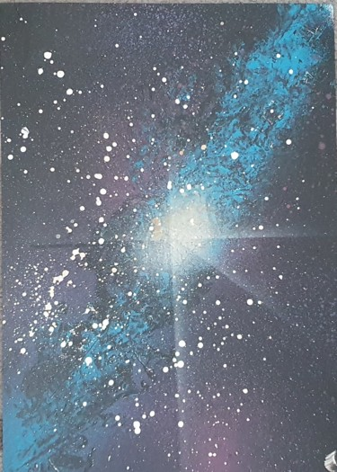 """Painting titled """"galaxy"""" by El Faban, Original Art, Spray paint"""