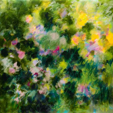 Flower Painting, oil, expressionism, artwork by Fabienne Monestier