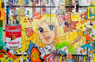 """Collages titled """"Candy"""" by Hubert Fabrice, Original Art, Collages"""
