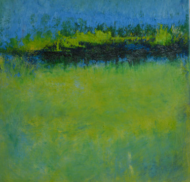 Landscape Painting, acrylic, abstract, artwork by R. Fancher Brinkmann