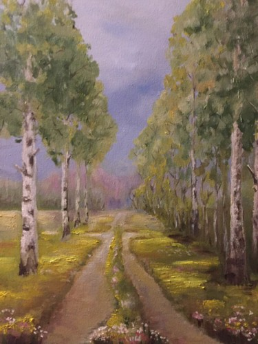 """Painting titled """"Nature painting,For…"""" by Елена Фаршиди, Original Art, Oil Mounted on Stretcher frame"""