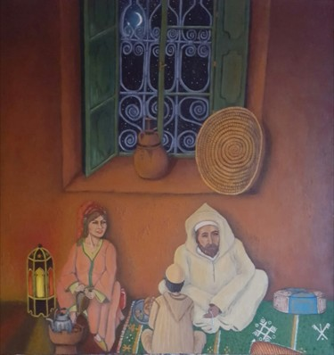 Painting, acrylic, classicism, artwork by Fatima Zahra