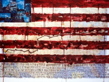 """Painting titled """"Flag"""" by Fawni, Original Art,"""