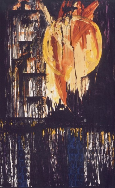 """Painting titled """"Blood Moon"""" by Fawni, Original Art,"""