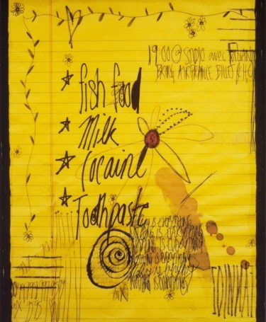 """Painting titled """"Shopping List #1"""" by Fawni, Original Art,"""