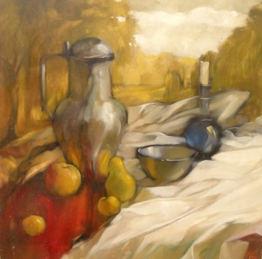 """Painting titled """"Autumn mirages"""" by Fedor Zubkov, Original Art, Oil"""