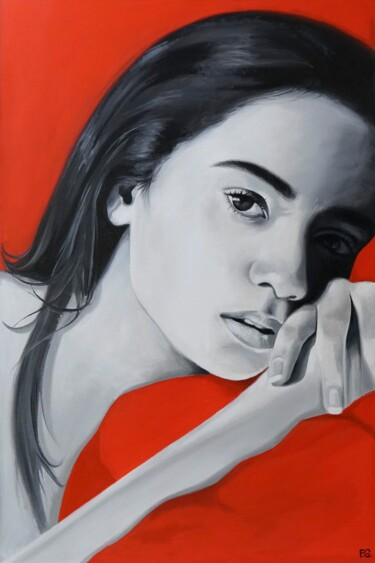 """Painting titled """"Red and More"""" by Filip Art, Original Art, Oil"""