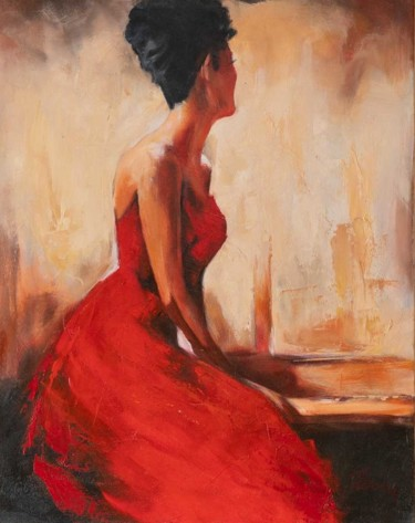 Painting, oil, figurative, artwork by Filip Petrovic