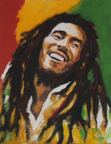 """Painting titled """"Bob Marley oil pain…"""" by Filip Petrovic, Original Art, Oil"""