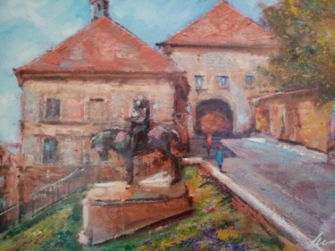 """Painting titled """"Zagreb Upper town a…"""" by Filip Petrovic, Original Art, Acrylic"""