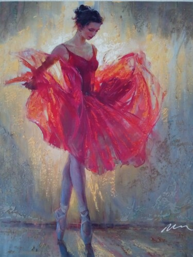 """Painting titled """"Female Ballet Dance…"""" by Filip Petrovic, Original Art, Acrylic"""