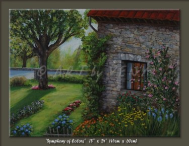 """Painting titled """"Symphony in Color"""" by Veny, Original Art, Oil"""