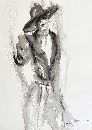 Fashion Painting, watercolor, figurative, artwork by Fiona Maclean