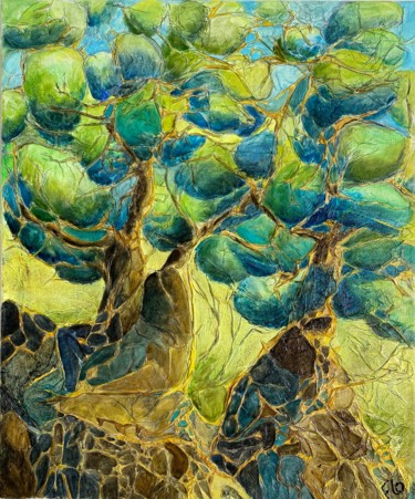 Tree Painting, oil, figurative, artwork by Florence Faure