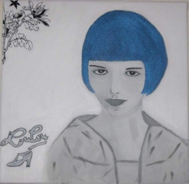 """Painting titled """"LOUISE BROOKS"""" by Flora I., Original Art, Oil"""