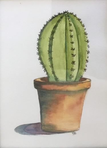 """Painting titled """"Cactus"""" by Flo, Original Art, Watercolor"""