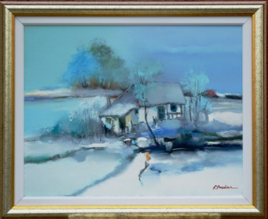 """Painting titled """"morning-of-March-45…"""" by Florin Prodan, Original Art, Oil"""
