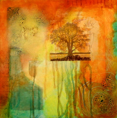 """Painting titled """"Tree With Roots"""" by Veronica Stewart, Original Art,"""