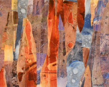 """Collages titled """"Lot's Wife"""" by Veronica Stewart, Original Art,"""