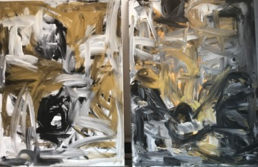 Painting, acrylic, abstract, artwork by Frances Bildner