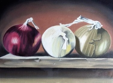 """Painting titled """"Onions 2013"""" by Francisco Torres, Original Art, Oil"""