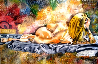 Painting, oil, figurative, artwork by Franco Fumo