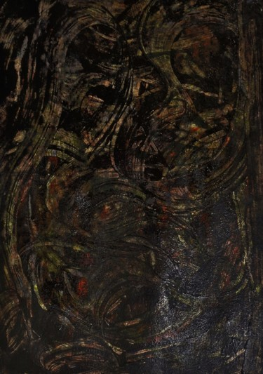"""Painting titled """"angústia"""" by Francisco Mendes, Original Art, Acrylic"""