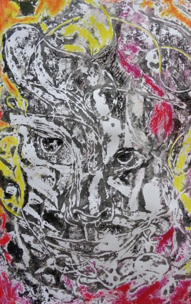 """Painting titled """"tribal"""" by Francisco Mendes, Original Art, Acrylic"""