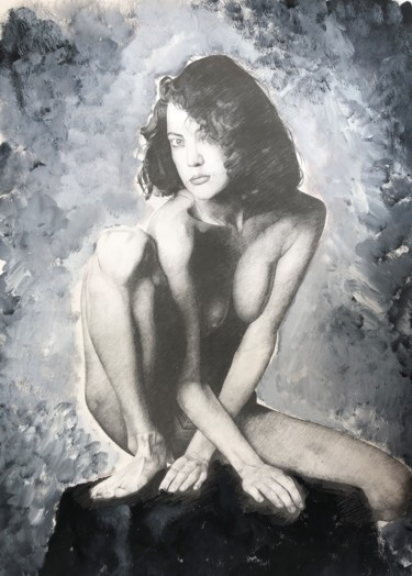 Painting, pencil, figurative, artwork by Frank-Oben