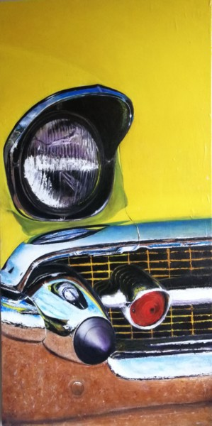 """Painting titled """"Us car"""" by Fred Haute, Original Art, Oil"""