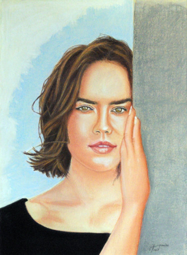 Painting, pastel, figurative, artwork by Fred Mahieu