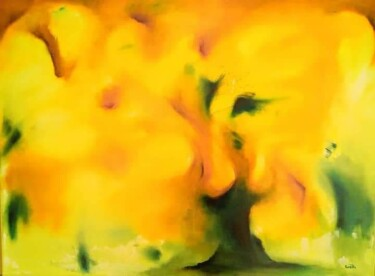 """Painting titled """"Flamboyant"""" by Gaëlle, Original Art, Oil"""