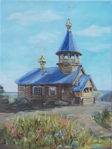 """Painting titled """"temple of the Epiph…"""" by Galina Shepeleva, Original Art, Oil"""