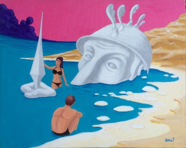 Seascape Painting, acrylic, figurative, artwork by Stefano Galli