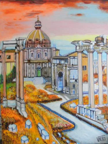 """Painting titled """"FORI IMPERIALI. DI.…"""" by Vneri, Original Art, Acrylic"""