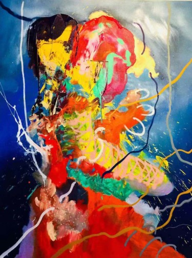 """Painting titled """"Confusion Relations…"""" by Gao, Original Art, Oil"""