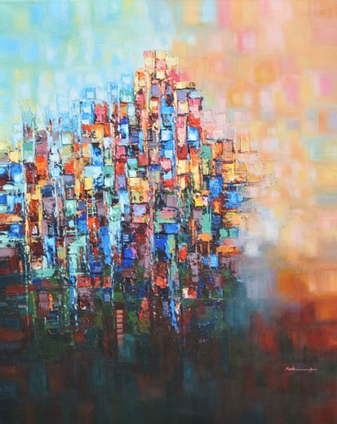 Painting, acrylic, abstract, artwork by Ahmed Mande