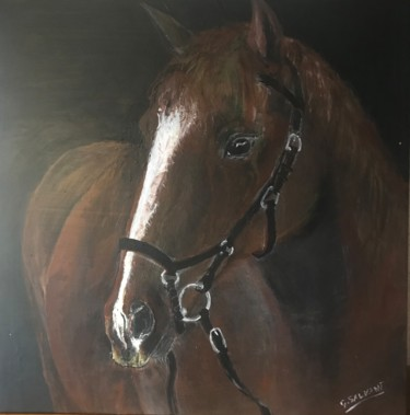 Horse Painting, acrylic, classicism, artwork by Georges Salvant
