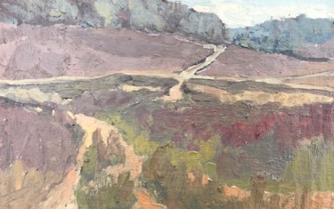 """Painting titled """"Paths in the heathe…"""" by Georgina Rey, Original Art, Oil"""