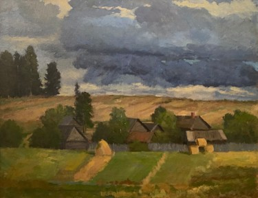 Landscape Painting, oil, classicism, artwork by Oleg Vasiliev