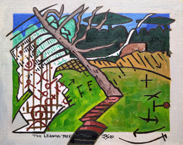 """Painting titled """"The Leaning Tree"""" by Gerald Shepherd, Original Art, Oil"""
