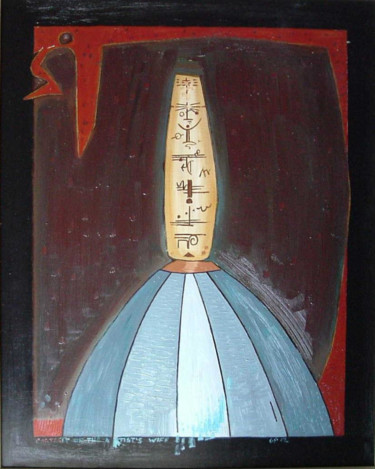 """Painting titled """"Portrait Of My Wife"""" by Gerald Shepherd, Original Art, Oil"""