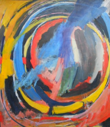 """Painting titled """"cycle des cercles c…"""" by Gerard Buray, Original Art, Acrylic Mounted on Wood Panel"""