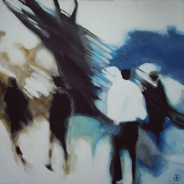 """Painting titled """"down-town-2"""" by Gerard Jouannet, Original Art, Acrylic"""