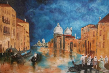 """Painting titled """"Le Grand Canal à Ve…"""" by Gérard Fayet, Original Art, Oil Mounted on Stretcher frame"""