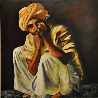 World Culture Painting, oil, figurative, artwork by Gérard Fayet