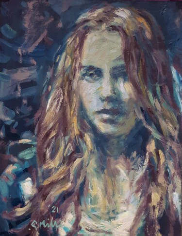 """Painting titled """"Samantha, oil paint…"""" by Gerry Miller, Original Art, Oil"""